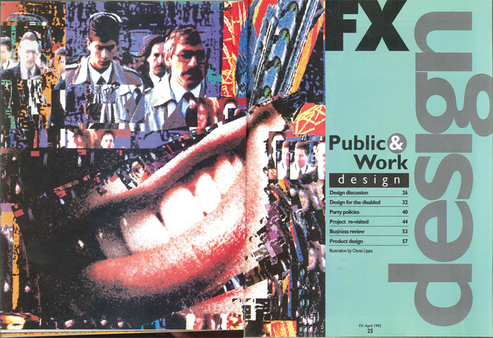 The design discussion pages from the first issue of FX 25 years ago