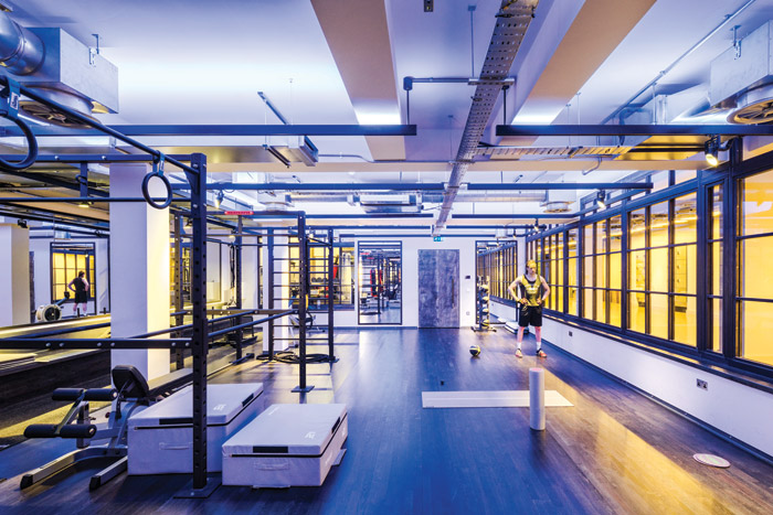 The main gym space can be divided, so the lighting programming needed to be able to respond to the spaces being used at the same time but for different activities