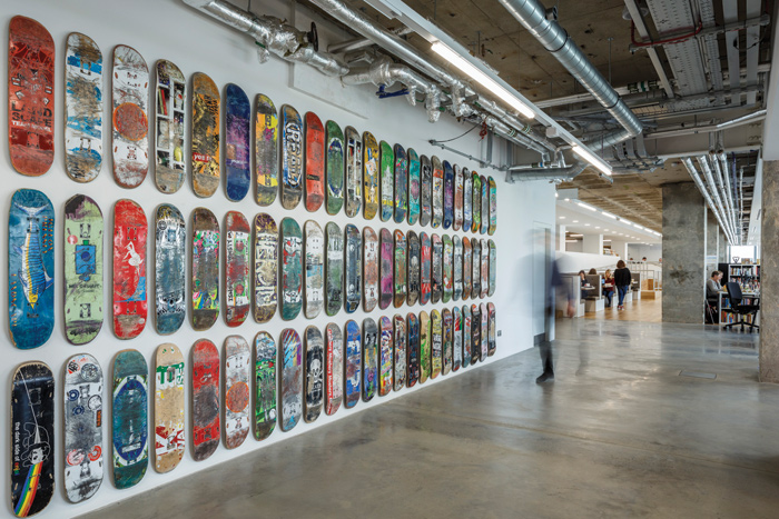 Skateboard Wall at Sea Containers building, South Bank, London for Ogilvy & Mather (2016)