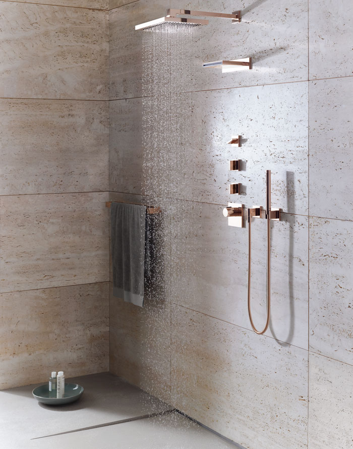 Rose Gold Shower Fittings From Alternative Bathrooms