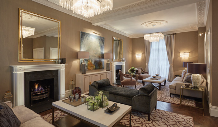 The drawing room at residence ones one wilton street in london interior design by laura