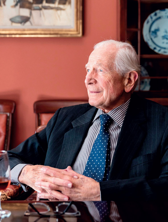 Michael Broadbent MW, founder of Christie's wine department, which celebrated 50 years in October.