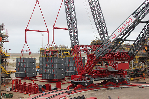 ALE's load test of 'world's largest' capacity land-based ...