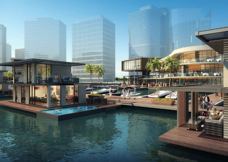 Floating finnish homes set sail to dubai designcurial - The floating homes of dubai luxury redefined ...