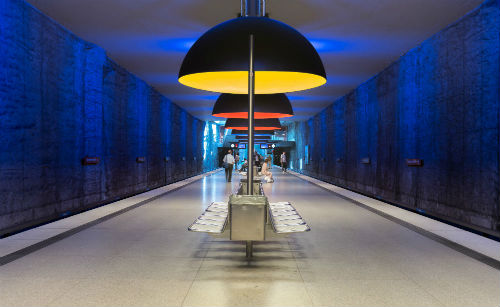 Munichs westfriedhof station also known as u bahn opened its doors in 1998 and was designed by auer weber in collaboration with lighting designer