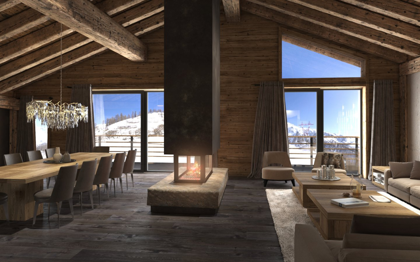 Ski Chalet Interior Design the world's 7 best designed ski chalets 2017 - designcurial