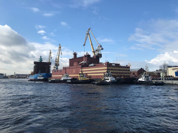 Russia's first floating nuclear power plant starts sea voyage to load fuel