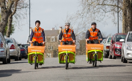 Sainsbury's launches UK's first grocery delivery service by electric cargo bike