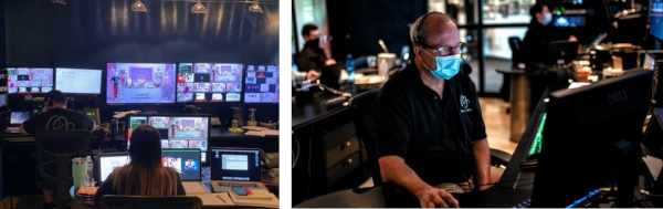 A behind-the-scenes look at the control room for The Avon Company's multi-day 135th virtual anniversary celebration.