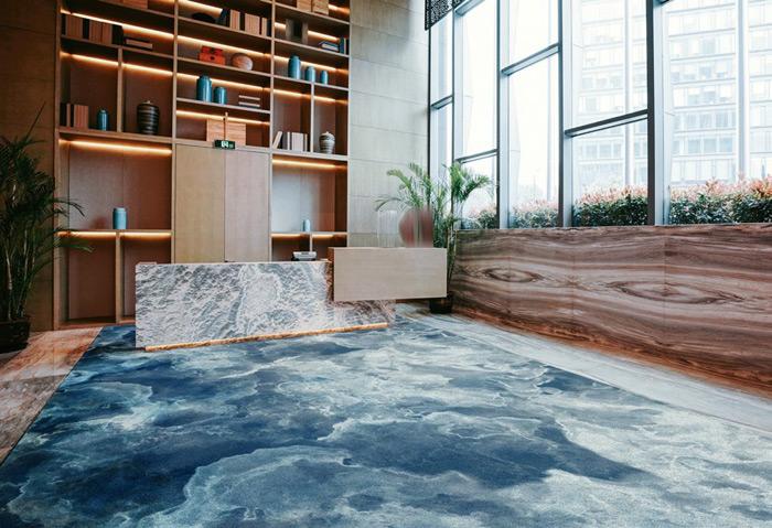 TSAR Retreat Collection—Ocean Song Axminster carpet