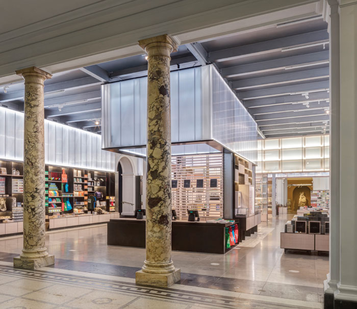 Friend and Company Architects with RA Projects, UK  Victoria & Albert Museum Shop, London, UK