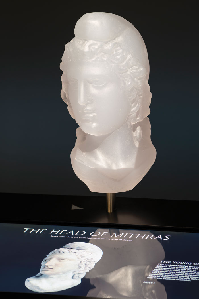 A cast of the head of Mithras