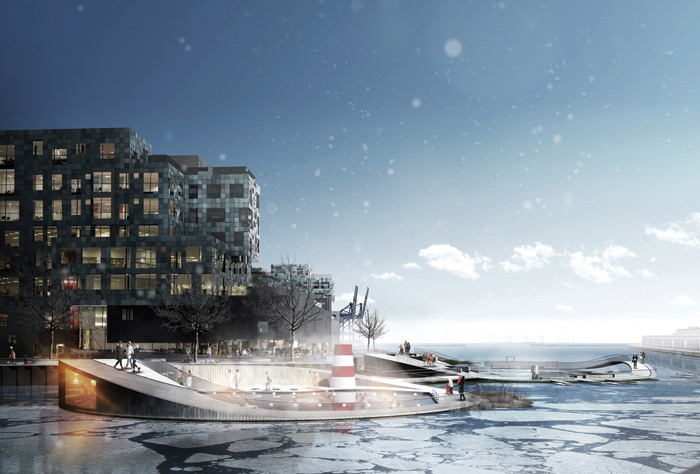 CF Møller is planning to add to Copenhagen's collection of harbour swimming pools with Nordhavn Islands