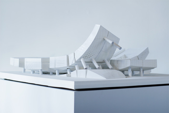 Saba Samiel's Milan urban quarter in his project Democratic Cohesion. Photo courtesy SCI-Arc