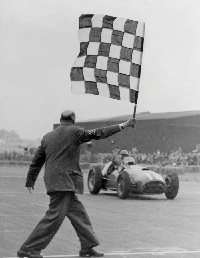 The first Grand Prix win for Ferrari, the 1951 World Championship