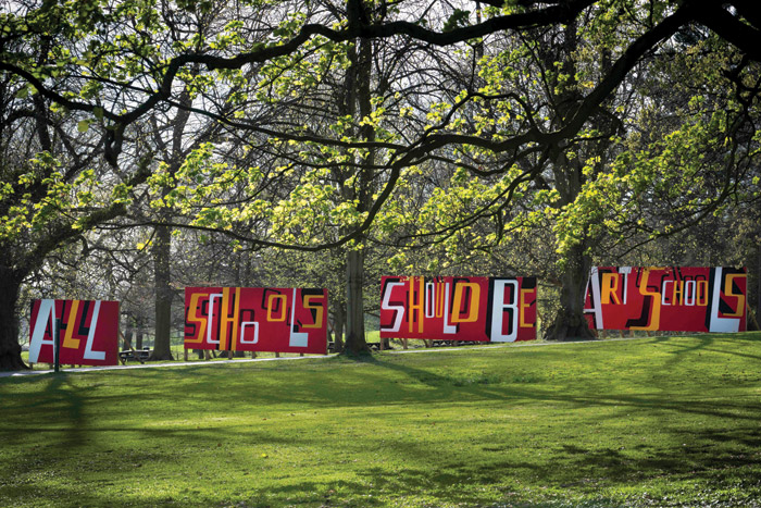 All Schools Should Be Art Schools installation at the Yorkshire Sculpture Park (2017)