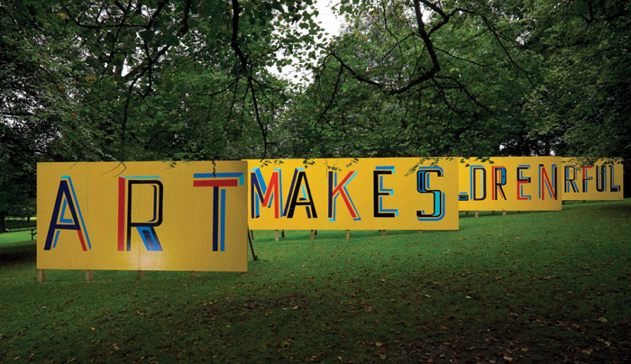 Art Makes Children Powerful (2013) installed at the Yorkshire Sculpture Park in 2015
