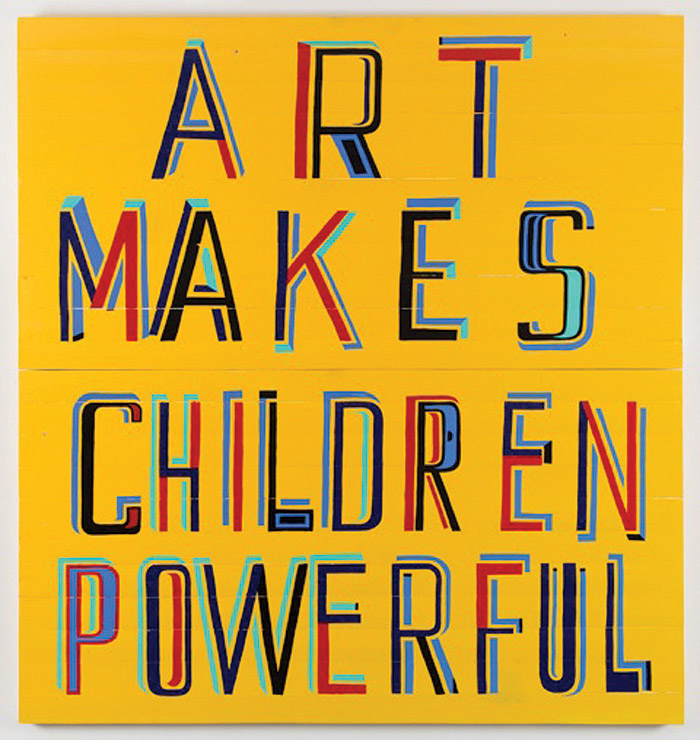 Art Makes Children Powerful painting (2013). Photo Credit: Courtesy Of The Artist