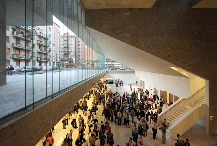 Università Luigi Bocconi in Milan (completed 2008). The building is set back from surrounding streets to make a public space. Image Credit: Paolo Tonato