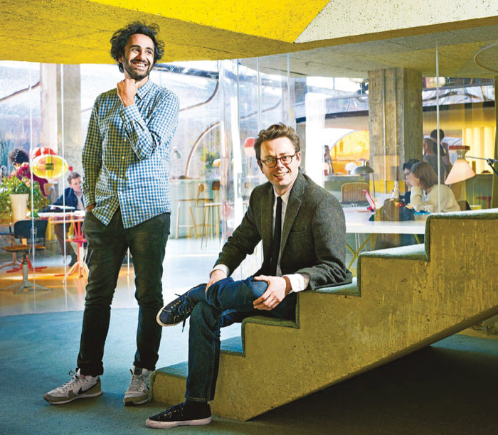 Rohan Silva and Sam Aldenton, founders of Second Home