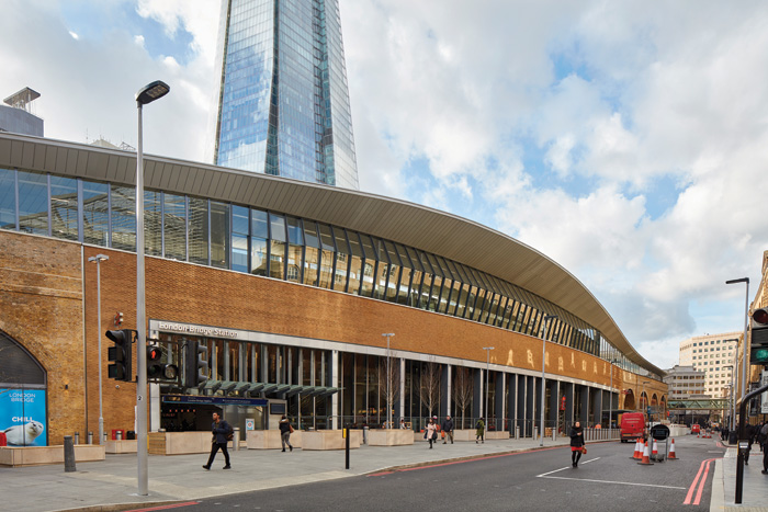 The Shard, which literally towers above the new station, was completed just as work began on the travel hub and is as tall as the station is long