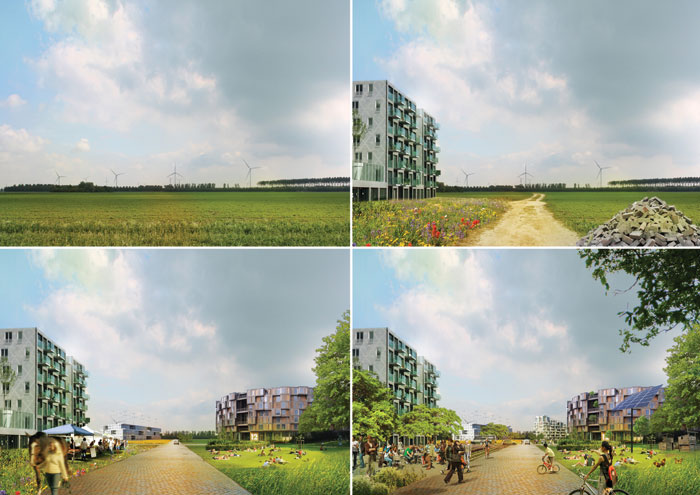 MVRDV's visions for the evolution of standard-density areas of the plan