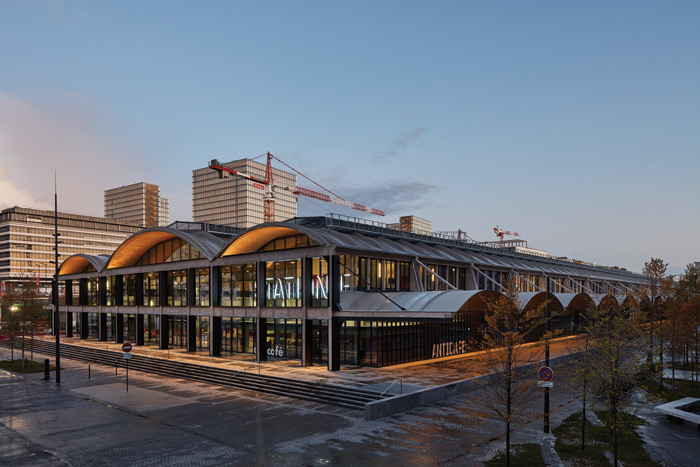 Located near Gare d'Austerlitz in south-east Paris, Station F catalyses local regeneration. Image Credit: Paul Raftery