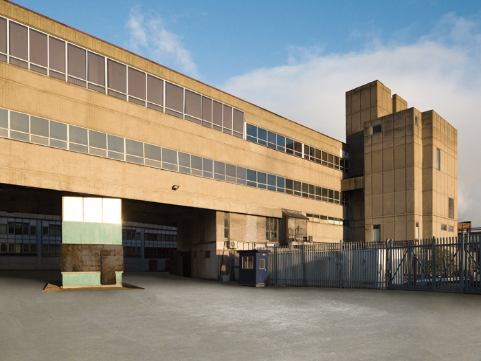 Belfast firm Munce & Kennedy designed the original brutalist factory building. Image Credit: Lewis Khan