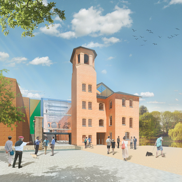 Scheduled to open in 2020, the completed project will keep the original silk mill at its heart.