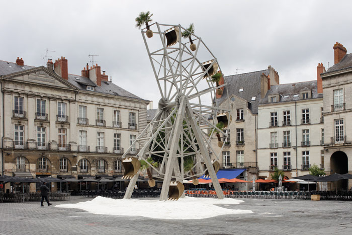 Artist Boris Chouvellon created a modern ruin in Place du Bouffay for this year's edition of the festival. Photo Credit: Philippe Piron/LVAN, Le Voyage A Nantes 2017