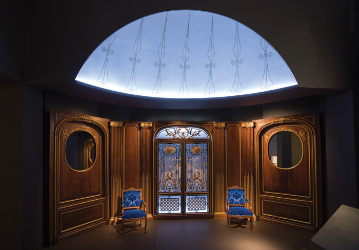 Lavish doors, panels and furniture from the SS France (1912) — known as the Versailles of the Atlantic. Image Credit: Victoria and Albert Museum London