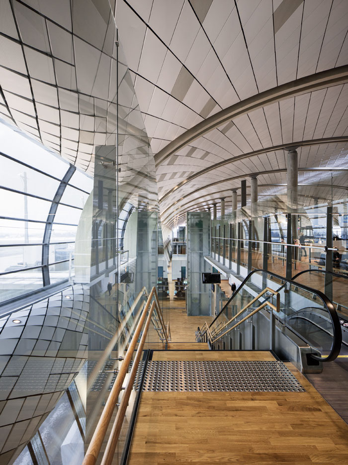 Transparency is a major aim in the design, including when transiting through the airport. Photo Credit: Ivan Brodey