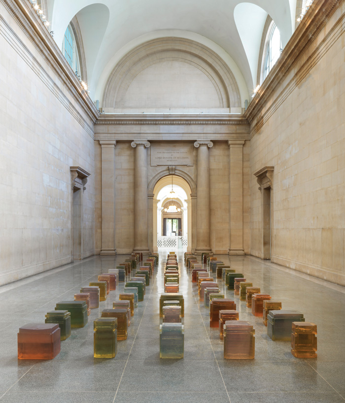 Untitled (100 Spaces), 1995, installed in Tate Britain's Duveen Galleries, 2017. Photo Credit: Rachel Whiteread / Tate / Seraphina Neville And Andrew Dunkley