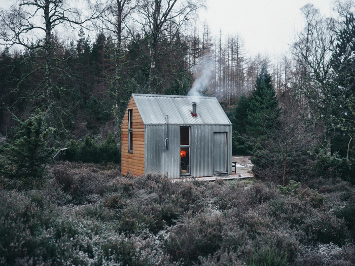 The Bothy Project's 2011 prototype was installed on Inshriach Farm, though it wasn't designed with any specific location in mind. Photo Credit: Andrew Ridley