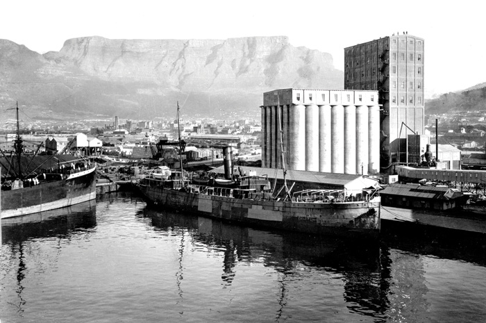 A shot of the grain silos from 1926 in the days when they were in full flow. Photo Credit: Hilton Tepper