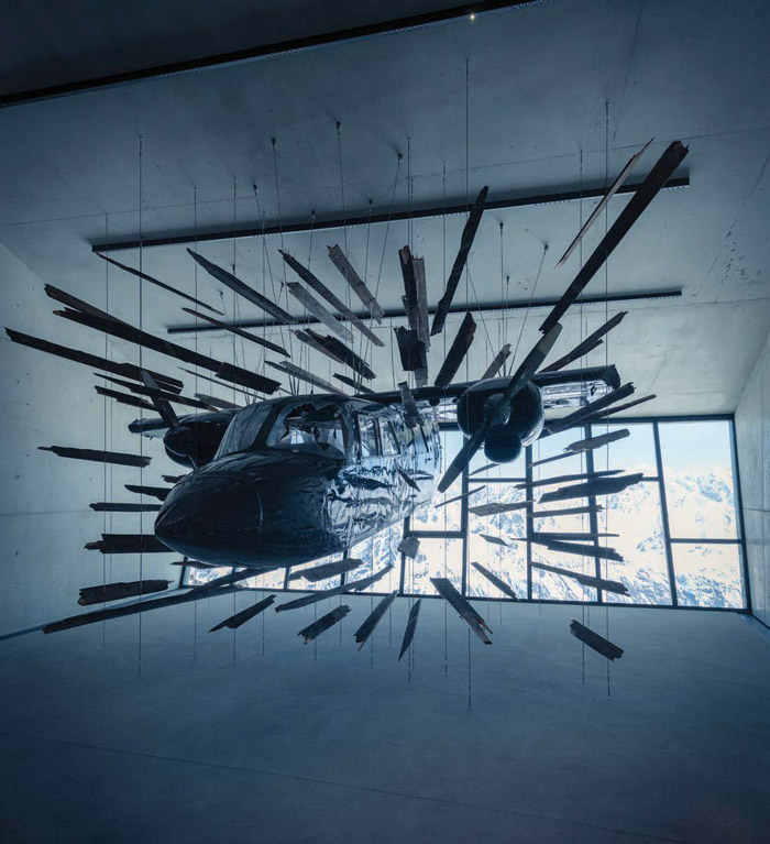 The Action Hall features a full-sized plane like the one piloted by Bond in 2015's Spectre snow chase scene. Image Credit: Kristopher Grunert