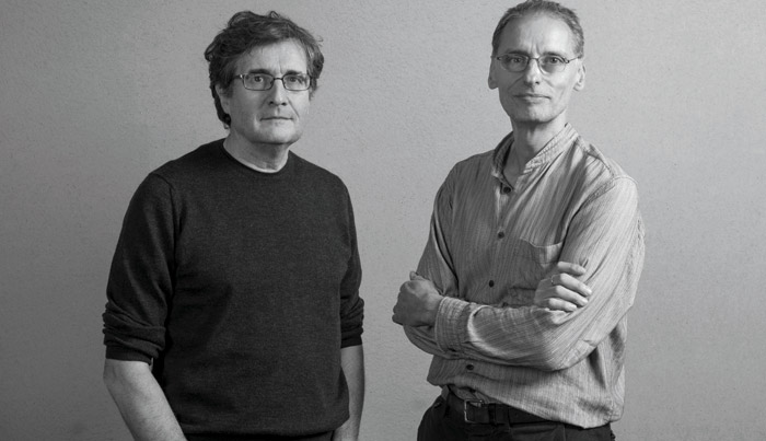 Haworth Tompkins co-founders Graham Haworth (left) and Steve Tompkins (right)