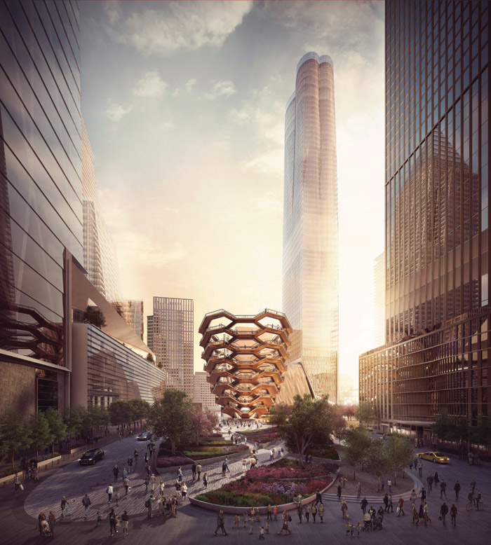 A 16-floorhigh structure made from 2,500 stairs, The Vessel will form the heart of New York's Hudson Yards