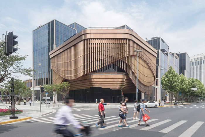 'We agreed that we'd design it completely together': the Bund Finance Centre in Shanghai, a collaboration between Heatherwick Studio and Foster + Partners. Image Credit: Laurian Ghinitoiu