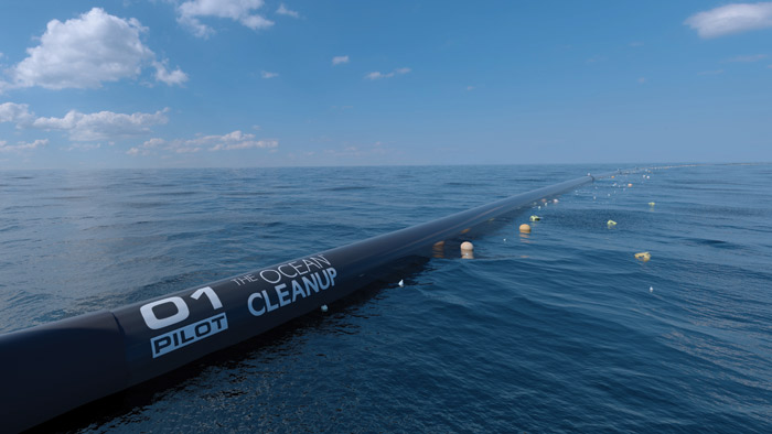 The Ocean Cleanup develops technologies to reduce plastic pollution in ocean waters