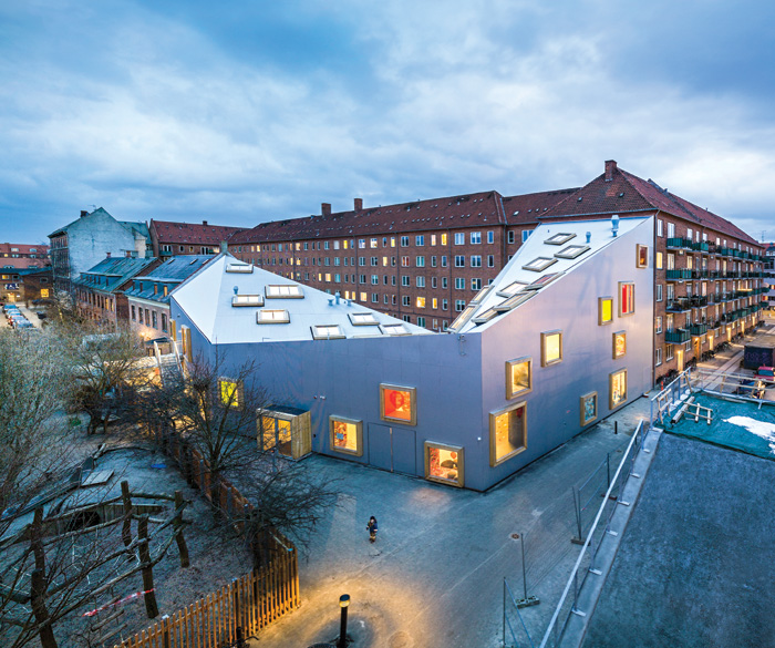 The practice's Amager Children's Culture House (2013) in Copenhagen. Image Credit: Jens Lindhe