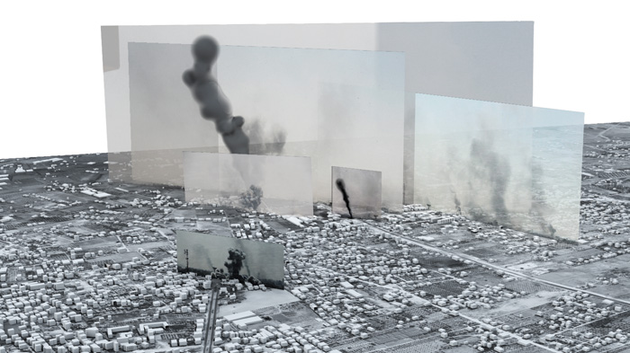 The practice's analyses of bombings in the city of Rafah, as presented at its solo show at London's ICA earlier this year