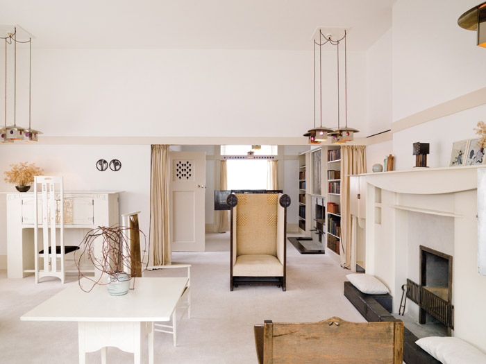 The Mackintosh House, a reassemblage of the principal items from Mackintosh's own home, on show as part of the Hunterian Museum at Glasgow University.