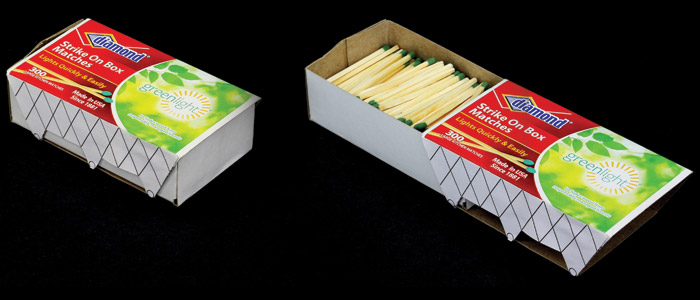 Very literal models for the matchbox idea, complete with matches. Credit: Diller Scofidio + Renfro