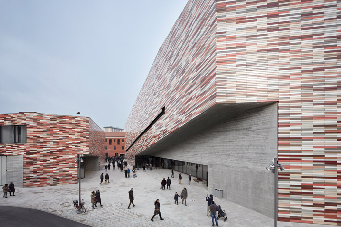The museum's activities are woven into Mestre's daily, pedestrian life through its new public realm and connections