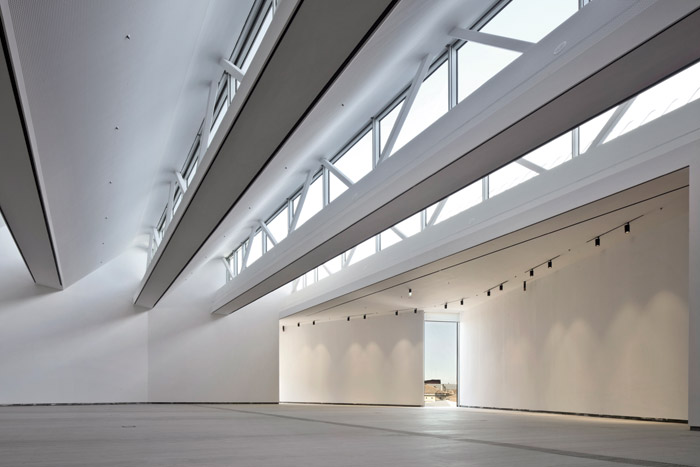 'Probably the best exhibition space in Venice'? The third-floor gallery, lit generously by rooflights, is a vast, column-free space, made possible by 40m roof beams