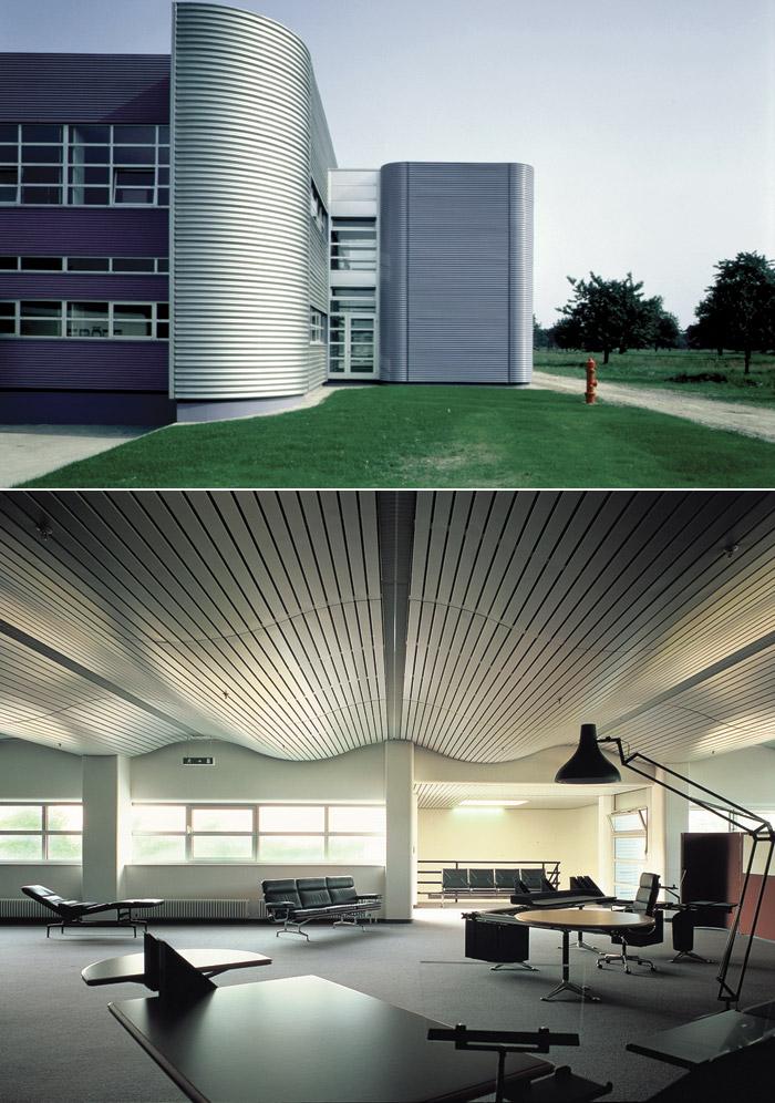 Key large-span projects by Grimshaw: the Vitra Factory near Basel (2). Image Credit: Jo Reid & John Peck