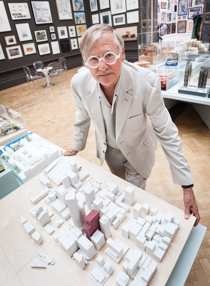 Nicholas Grimshaw at the Royal Academy, in 2014, where he was president from 2004 to 2011. Image Credit: Rick Roxburgh