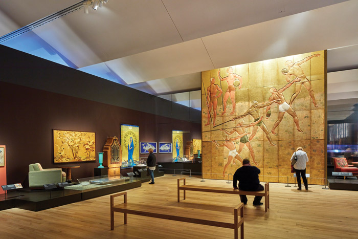 The column-free, 1,000 sq m temporary gallery provides an elegant home for the V&A's Ocean Liners: Speed and Style exhibition