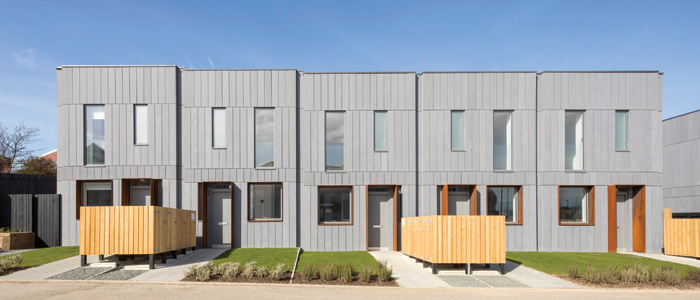 Fab House is a new modular family house designed by TDO architecture for a Tyneside development jointly funded by Places for People and Urban Splash